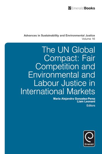 Book cover for The UN Global Compact a book by MariaAlejandra  GonzalezPerez, Liam  Leonard