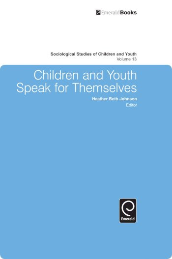 Book cover for Children and Youth Speak for Themselves a book by Heather Beth Johnson, Heather Beth Johnson