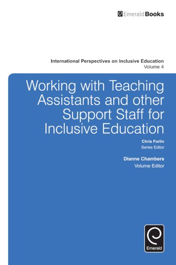 Book cover for Working with Teachers and Other Support Staff for Inclusive Education a book by Dianne  Chambers