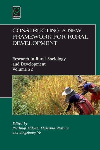Book cover for Constructing a new framework for rural development a book by Pierluigi  Milone, Flaminia  Ventura, Jingzhong  Ye