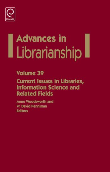 Book cover for Current Issues in Libraries, Information Science and Related Fields a book by Anne  Woodsworth, W. David Penniman