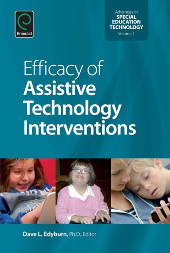 Book cover for Efficacy of Assistive Technology Interventions a book by Dave  Edyburn