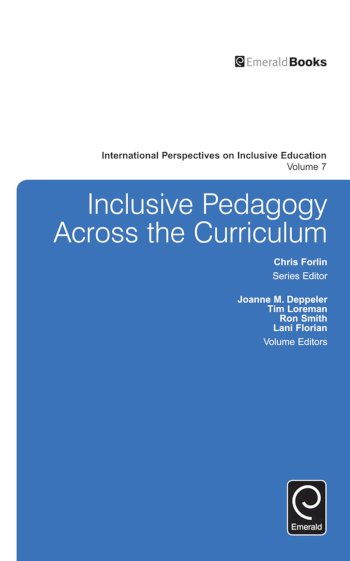 Book cover for Inclusive Pedagogy Across the Curriculum a book by Joanne  Deppeler, Tim  Loreman, Lani  Florian, Ron  Smith