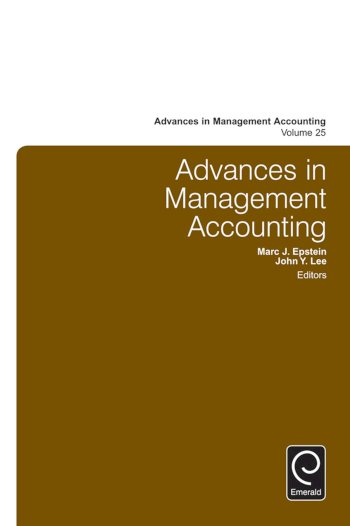 Book cover for Advances in Management Accounting a book by Marc J. Epstein, John Y. Lee