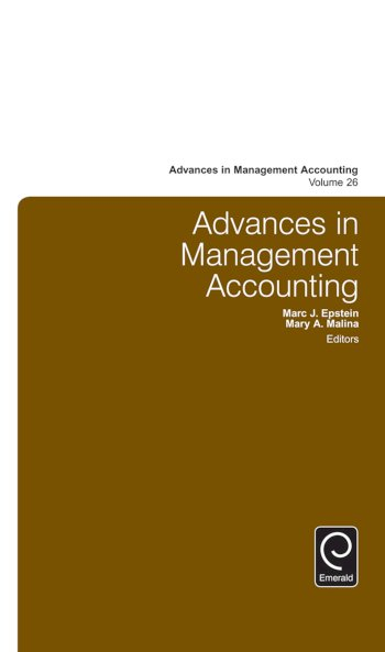 Book cover for Advances in Management Accounting a book by Marc J. Epstein, Mary A. Malina