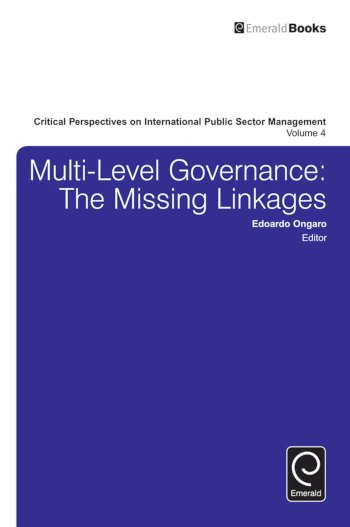 Book cover for Multi-Level Governance:  The Missing Linkages a book by Edoardo  Ongaro