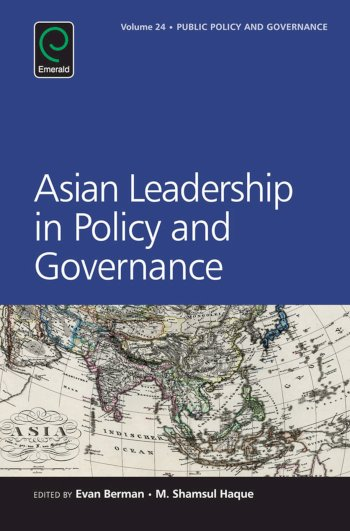 Book cover for Asian Leadership in Policy and Governance a book by Evan  Berman, M. Shamsul Haque