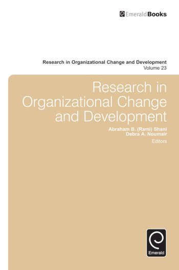 Book cover for Research in Organizational Change and Development a book by Abraham B. Rami Shani, Debra A. Noumair, Abraham B. Rami Shani, Debra A. Noumair