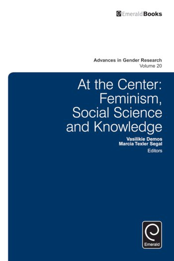 Book cover for At the center:  Feminism, social science and knowledge a book by Vasilikie  Demos, Marcia Texler Segal