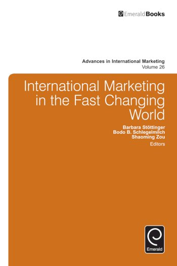 Book cover for International Marketing in the Fast Changing World a book by Shaoming  Zou, Bodo B. Schlegelmilch, Barbara  Stottinger