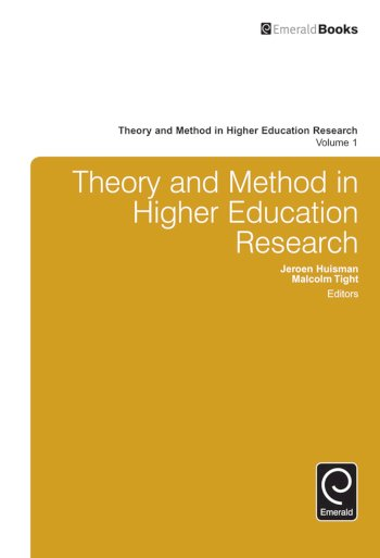 Book cover for Theory and Method in Higher Education Research a book by Malcolm  Tight, Jeroen  Huisman