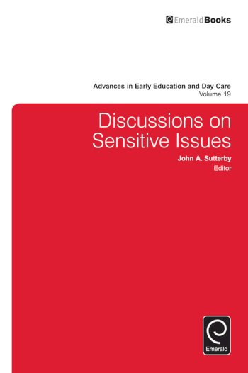 Book cover for Discussions on Sensitive Issues a book by John  Sutterby