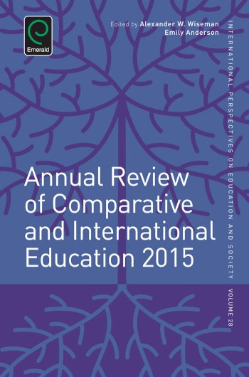 Book cover for Annual Review of Comparative and International Education 2015 a book by Alexander W. Wiseman, Emily  Anderson, Alexander W. Wiseman
