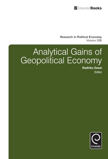 Book cover for Analytical Gains of Geopolitical Economy a book by Radhika  Desai, Paul  Zarembka
