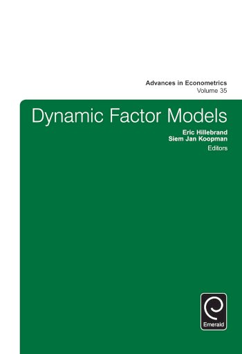 Book cover for Dynamic Factor Models a book by Siem Jan Koopman, Eric  Hillebrand