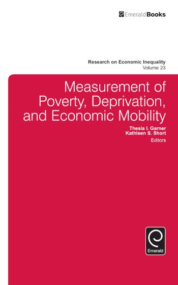 Book cover for Measurement of Poverty, Deprivation, and Social Exclusion a book by Thesia I. Garner, Kathleen S. Short