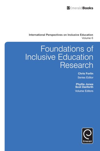 Book cover for Foundations of Inclusive Education Research a book by Phyllis  Jones, Scot  Danforth