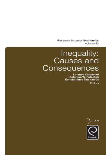 Book cover for Inequality:  Causes and Consequences a book by Solomon W. Polachek, Konstantinos  Tatsiramos, Lorenzo  Cappellari
