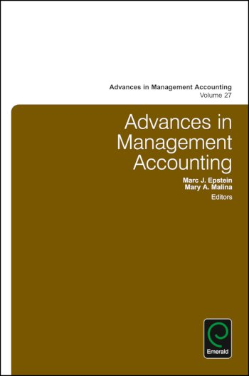 Book cover for Advances in Management Accounting a book by Marc J. Epstein, Mary M. Malina