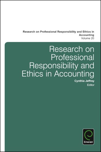 Book cover for Research on Professional Responsibility and Ethics in Accounting a book by Cynthia  Jeffrey, Cynthia  Jeffrey
