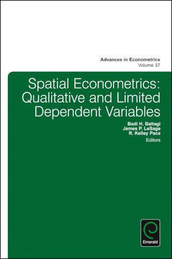 Book cover for Spatial Econometrics:  Qualitative and Limited Dependent Variables a book by Badi H. Baltagi, James P. LeSage, R. Kelley Pace