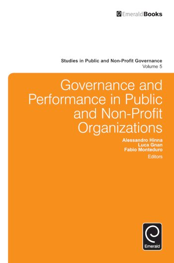 Book cover for Governance and Performance in Public and Non-Profit Organizations a book by Alessandro  Hinna, Luca  Gnan, Fabio  Monteduro