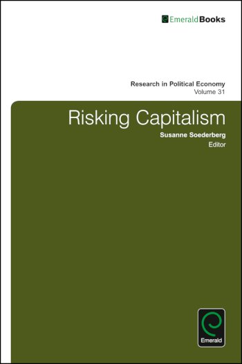 Book cover for Risking Capitalism a book by Paul  Zarembka, Susanne  Soederberg