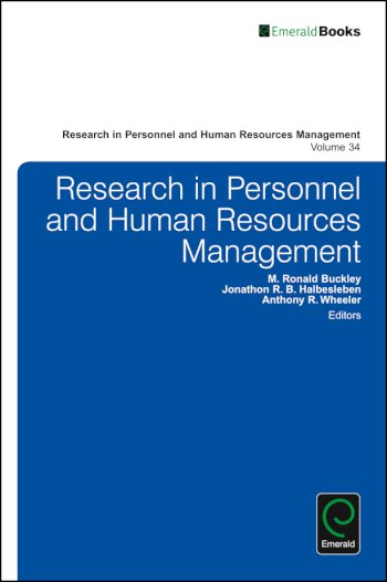 Book cover for Research in Personnel and Human Resources Management a book by M. Ronald Buckley, Jonathon R. B. Halbesleben, Anthony R. Wheeler