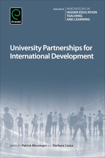 Book cover for University Partnerships for International Development a book by Barbara  Cozza, Patrick  Blessinger