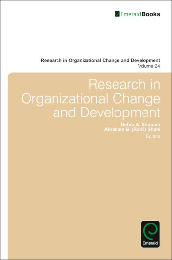 Book cover for Research in Organizational Change and Development a book by Debra A. Noumair, Abraham B. Rami Shani