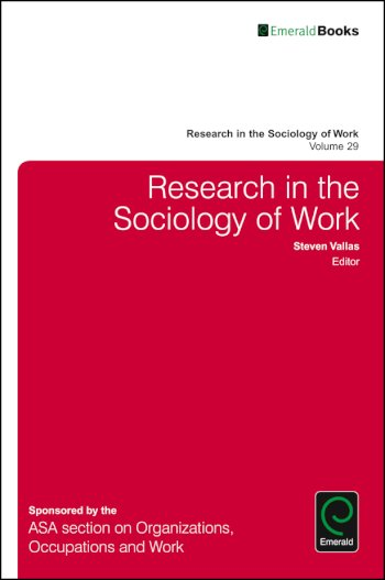 Book cover for Research in the Sociology of Work a book by Steven P. Vallas