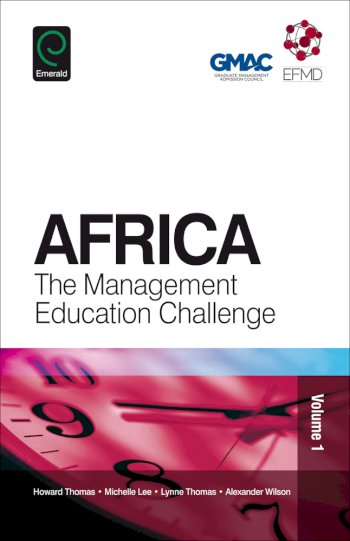 Book cover for Africa:  The Management Education Challenge a book by Michelle  Lee, Lynne  Thomas, Alexander  Wilson