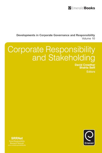 Book cover for Corporate Responsibility and Stakeholding a book by David  Crowther, Shahla  Seifi