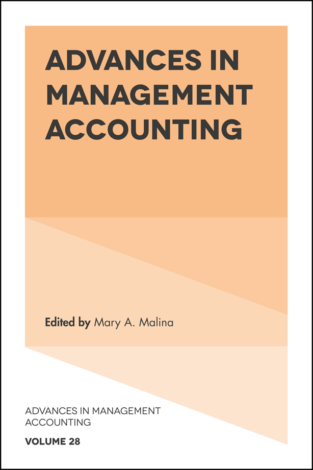 Book cover for Advances in Management Accounting, a book by Mary A. Malina
