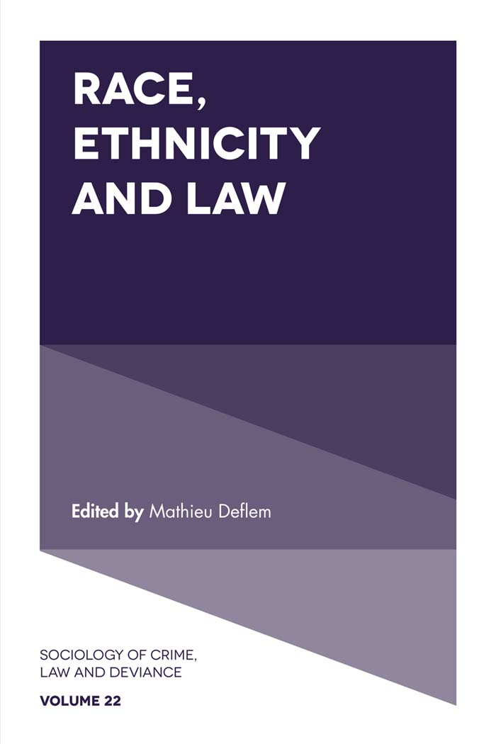 Book cover for Race, Ethnicity and Law a book by Mathieu  Deflem