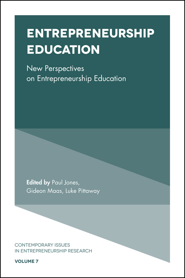 Book cover for Entrepreneurship Education:  New Perspectives on Entrepreneurship Education a book by Paul  Jones, Gideon  Maas, Luke  Pittaway, Gerard  McElwee