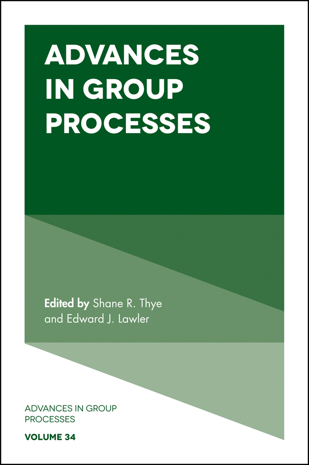 Book cover for Advances in Group Processes, a book by Shane R. Thye, Edward J. Lawler