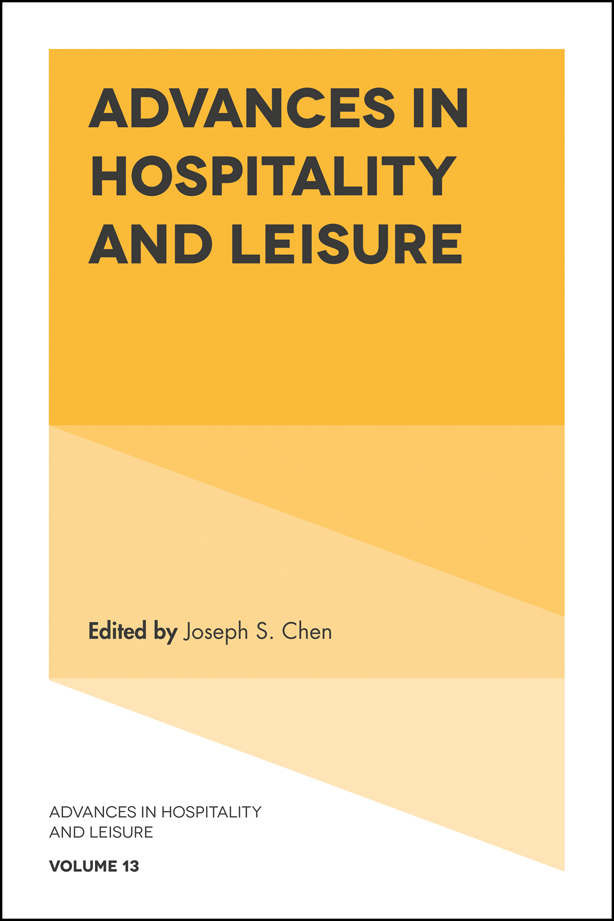 Book cover for Advances in Hospitality and Leisure a book by Joseph S. Chen