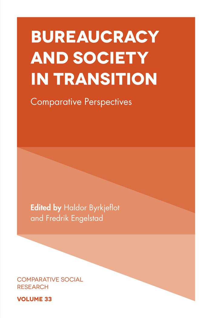 Book cover for Bureaucracy and Society in Transition:  Comparative Perspectives a book by Haldor  Byrkjeflot, Fredrick  Engelstad