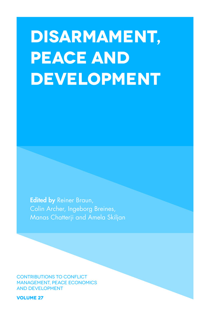 Book cover for Disarmament, Peace and Development a book by Reiner  Braun, Colin  Archer, Ingeborg  Breines, Manas  Chatterji, Amela  Skiljan