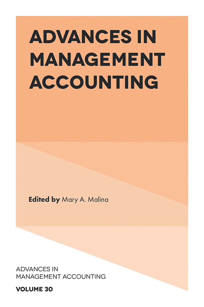 Book cover for Advances in Management Accounting a book by Mary A. Malina