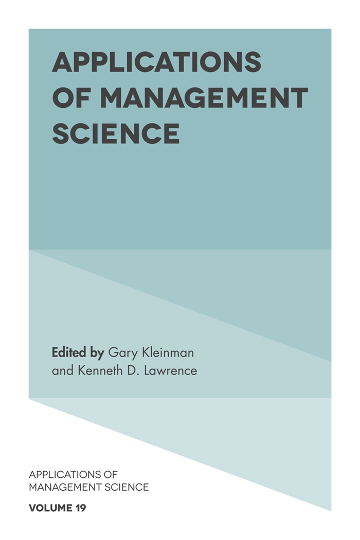 Book cover for Applications of Management Science a book by Kenneth  Lawrence, Gary  Kleinman