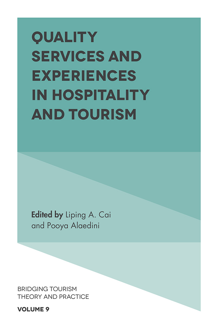 Book cover for Quality Services and Experiences in Hospitality and Tourism a book by Liping A. Cai, Pooya  Alaedini
