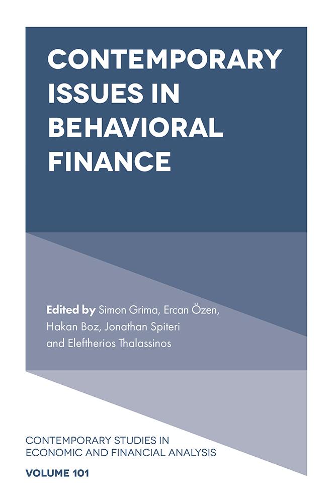 Book cover for Contemporary Issues in Behavioral Finance a book by Simon  Grima, Ercan  Özen, Hakan  Boz, Jonathan  Spiteri, Eleftherios  Thalassinos