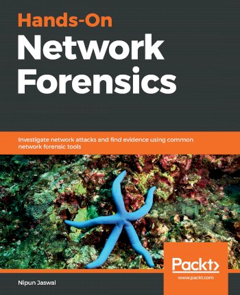 Book cover for Hands-On Network Forensics:  Investigate network attacks and find evidence using common network forensic tools a book by Nipun  Jaswal