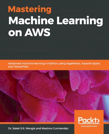 Book cover for Mastering Machine Learning on AWS:  Advanced machine learning in Python using SageMaker, Apache Spark, and TensorFlow a book by Dr. Saket S.R. Mengle, Maximo  Gurmendez