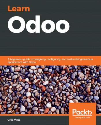 Book cover for Learn Odoo:  A beginner's guide to designing, configuring, and customizing business applications with Odoo a book by Greg  Moss