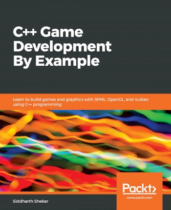 Book cover for C++ Game Development By Example:  Learn to build games and graphics with SFML, OpenGL, and Vulkan using C++ programming a book by Siddharth  Shekar