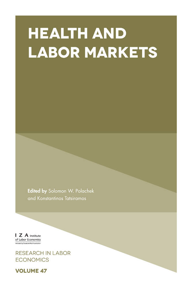 Book cover for Health and Labor Markets a book by Solomon W. Polachek, Konstantinos  Tatsiramos