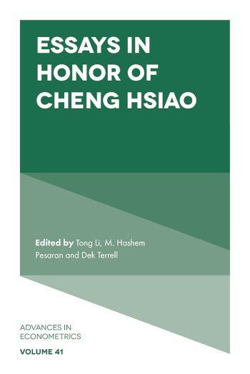 Book cover for Essays in Honor of Cheng Hsiao a book by Dek  Terrell, Tong  Li, M. Hashem Pesaran